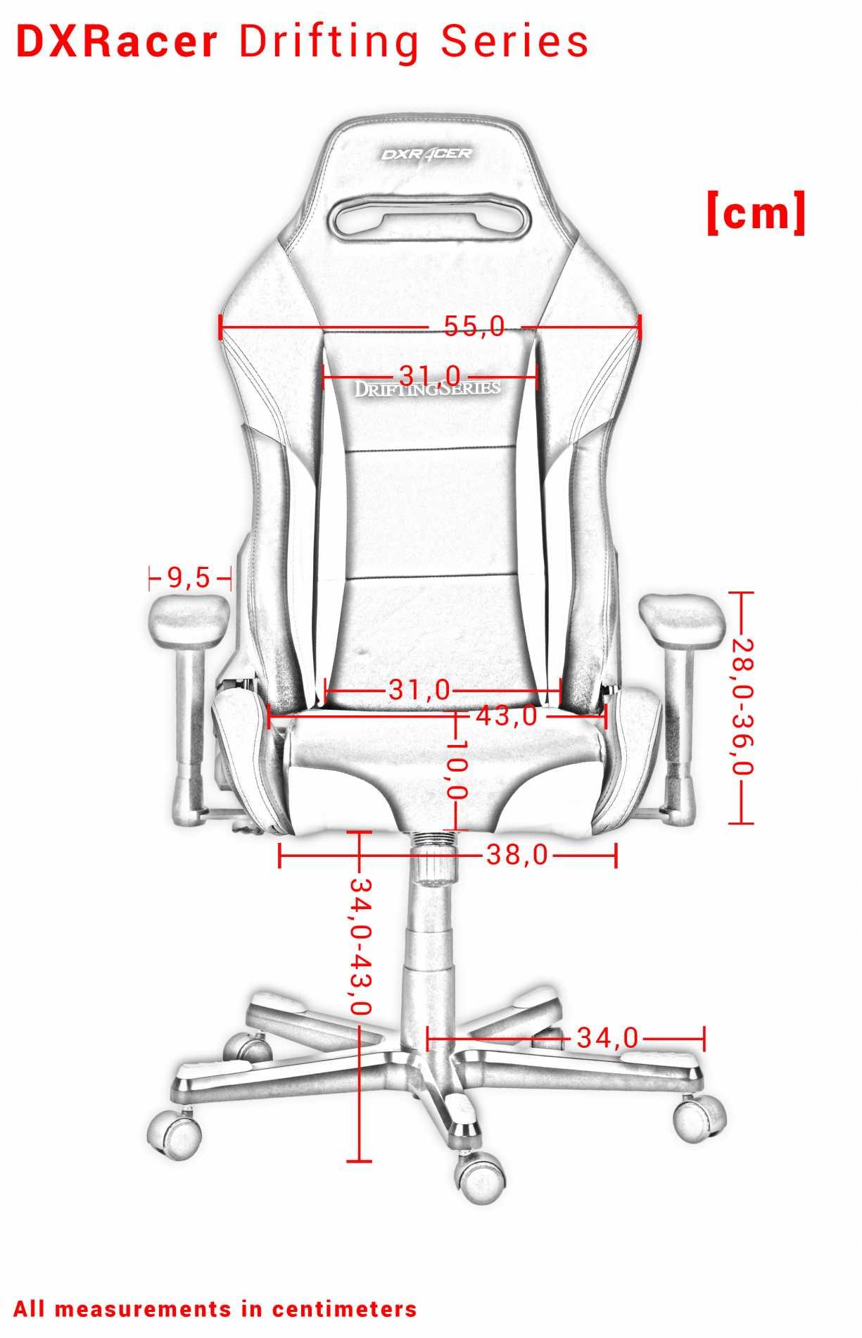 Кресло игровое DXRacer OH/DF73/N, Drifting, чёрное